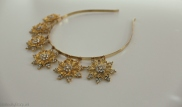 Handmade Gold woodland stars headband