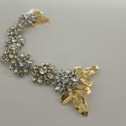 Handmade Gold medium hair vine , available in White Gold leaves Tag PhotoEdit